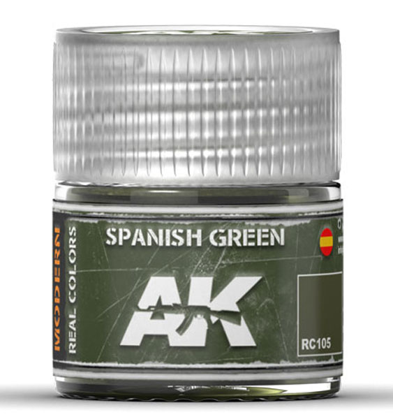 Real Colors: Spanish Green Acrylic Lacquer Paint