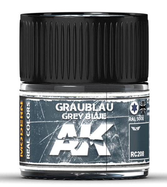 Real Colors: Graublau-Grey Blue RAL 5008 Acrylic Lacquer Paint