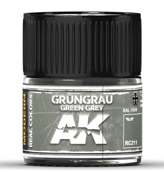 Real Colors: Grungrau-Green Grey RAL 7009 (Modern) Acrylic Lacquer Paint