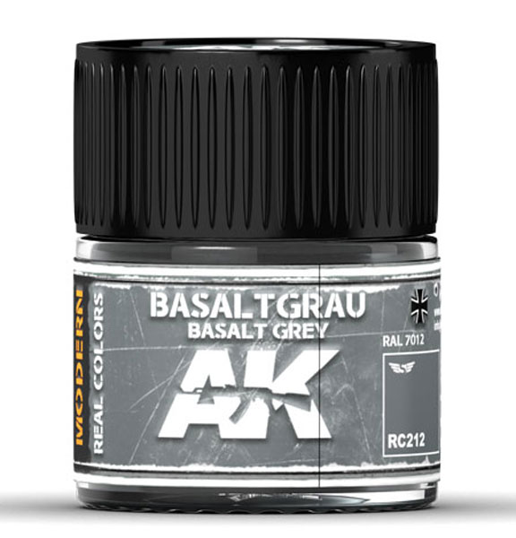 Real Colors: Basaltgrau-Basalt Grey RAL 7012 Acrylic Lacquer Paint
