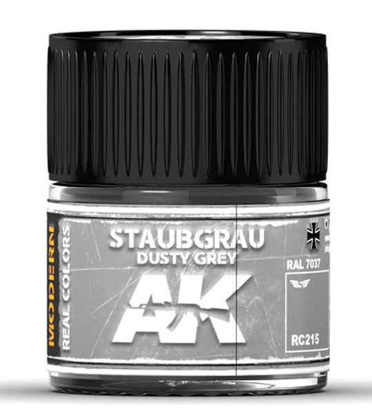 Real Colors: Staubgrau-Dusty Grey RAL 7037 Acrylic Lacquer Paint