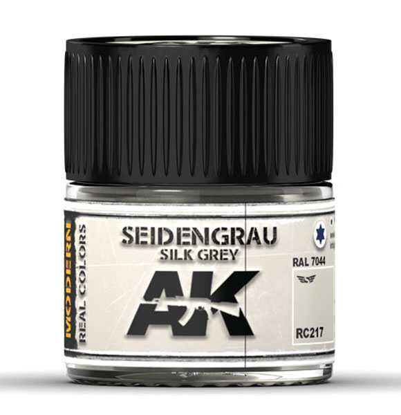 Real Colors: Seidengrau-Silk Grey RAL 7044 Acrylic Lacquer Paint