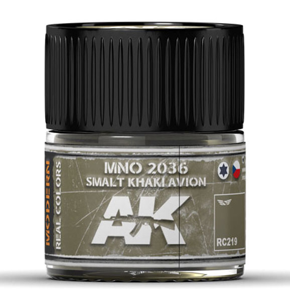 Real Colors: MNO 2036 Smalt Khaki Avion Acrylic Lacquer Paint