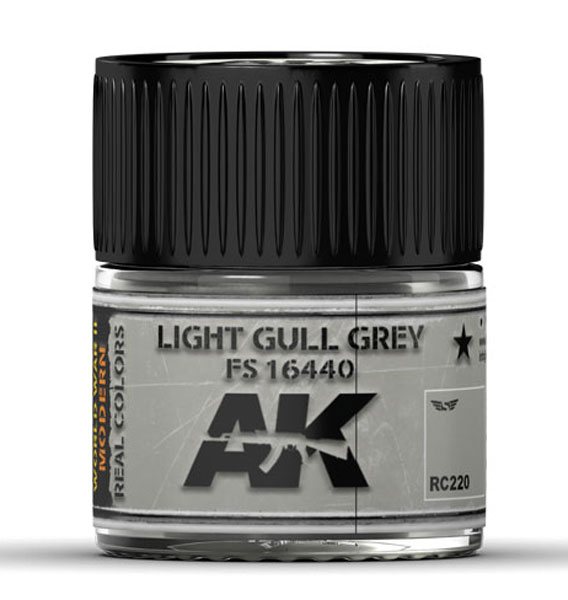 Real Colors: Light Gull Grey FS 16440 Acrylic Lacquer Paint