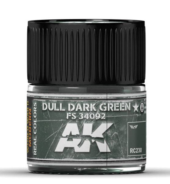 Real Colors: Dull Dark Green FS 34092 Acrylic Lacquer Paint