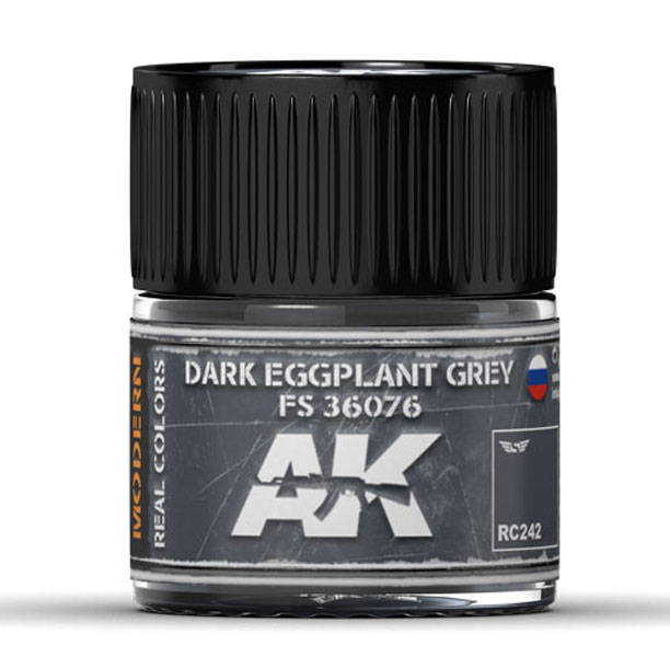 Real Colors: Dark Eggplant Grey FS 36076 Acrylic Lacquer Paint