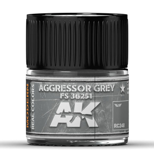 Real Colors: Aggressor Grey FS 36251 Acrylic Lacquer Paint
