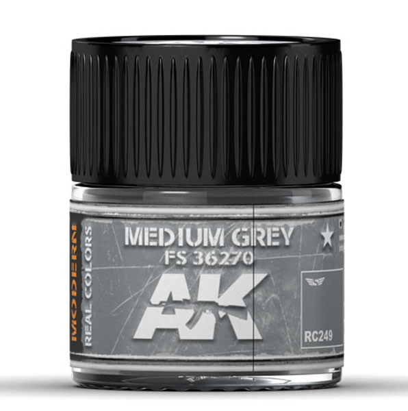 Real Colors: Medium Grey FS 36270 Acrylic Lacquer Paint