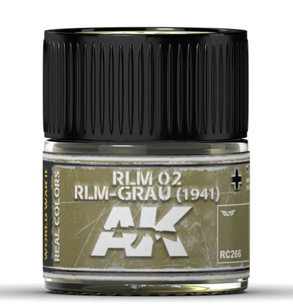Real Colors: RLM 02 RLM-GRAU (1941) Acrylic Lacquer Paint