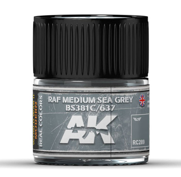 Real Colors: RAF Medium Sea Grey BS381C/637 Acrylic Lacquer Paint