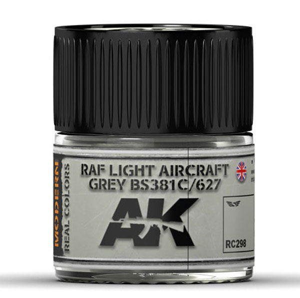 Real Colors: RAF Light Aircraft Grey BS381C/627 Acrylic Lacquer Paint