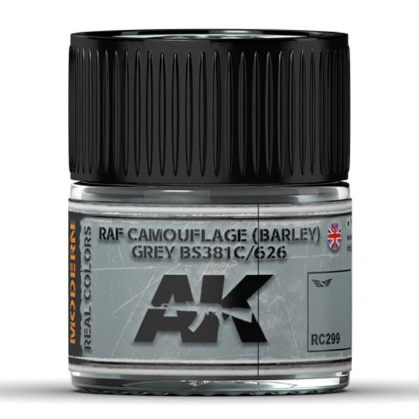 Real Colors: RAF Camouflage (BARLEY) Grey BS381C/626 Acrylic Lacquer Paint