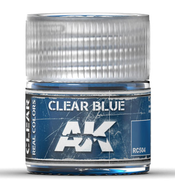 Real Colors: Clear Blue Acrylic Lacquer Paint