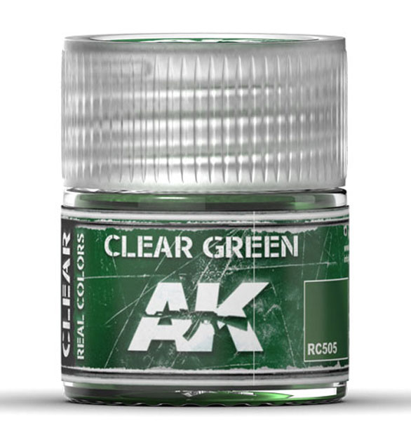 Real Colors: Clear Green Acrylic Lacquer Paint