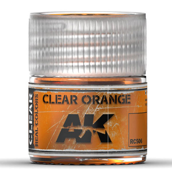 Real Colors: Clear Orange Acrylic Lacquer Paint