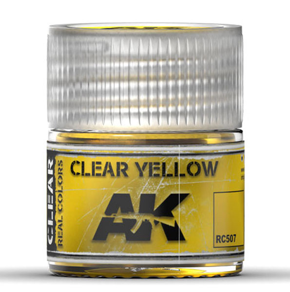Real Colors: Clear Yellow Acrylic Lacquer Paint
