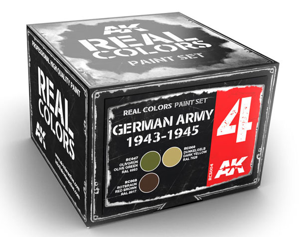 Real Colors: German Army 1943-1945 Acrylic Lacquer Paint Set (3) 10ml Bottles