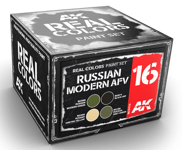 Real Colors: Russian Modern AFV Acrylic Lacquer Paint Set (4) 10ml Bottles