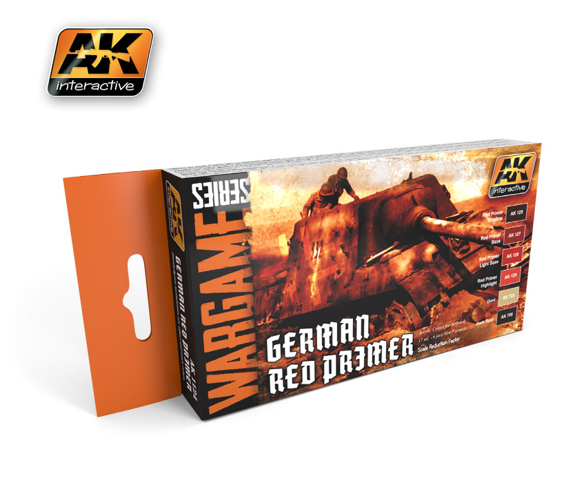 Wargame Series: German Red Primer Set  - ONLY 2 AVAILABLE AT THIS PRICE