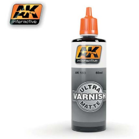 AK Acrylic Paint: Ultra Matte Varnish 60ml Bottle
