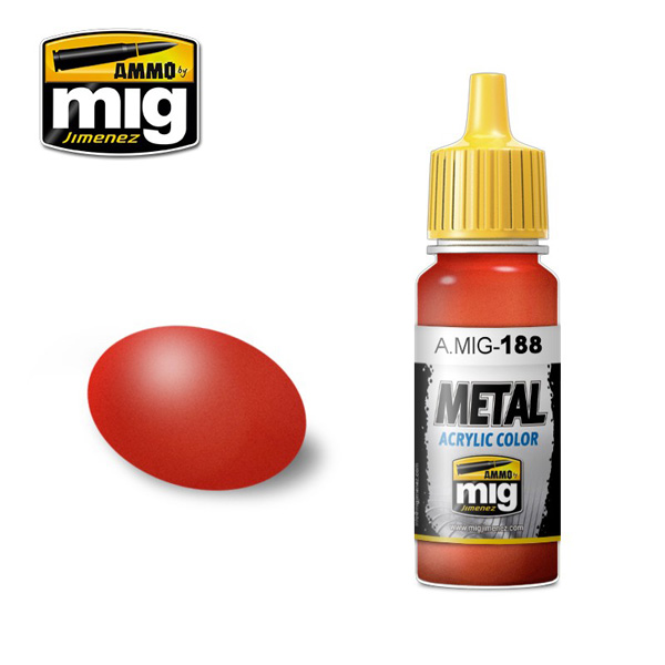 Metallic Red Acrylic Paint 17ml. Bottle
