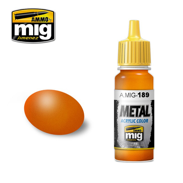 Metallic Orange Acrylic Paint 17ml. Bottle
