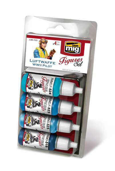 Acrylic Paint Set: Luftwaffe WWII Pilot - ONLY 1 AVAILABLE AT THIS PRICE