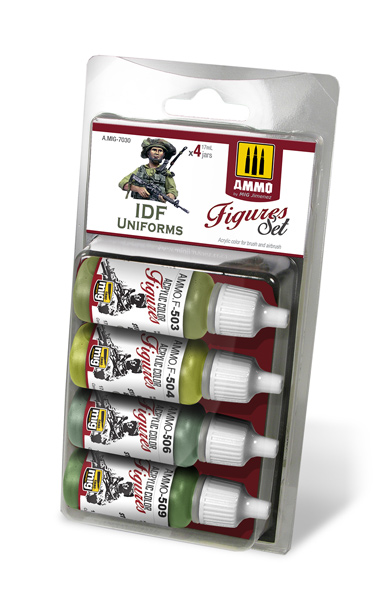 Figures Acrylic Paint Set: IDF Uniforms