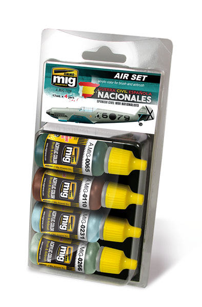 Acrylic Paint Set: Spanish Civil War - Nationalists Aircrafts