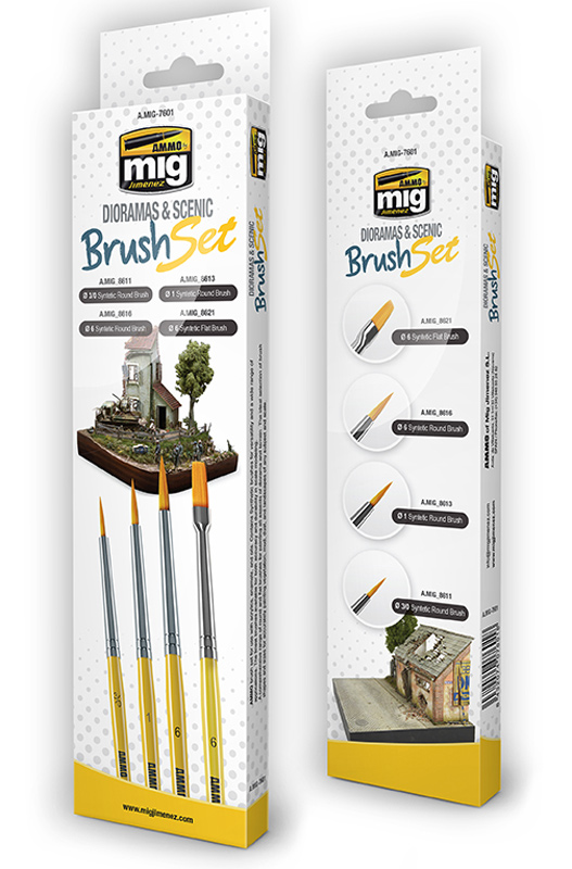 Dioramas and Scenics Brush Set