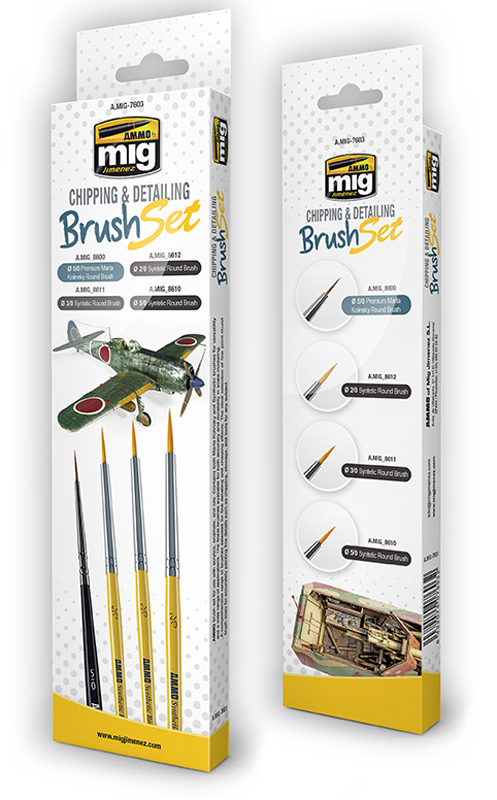 Chipping and Detailing Brush Set