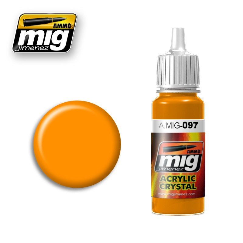 Crystal Orange Acrylic Paint 17ml. Bottle