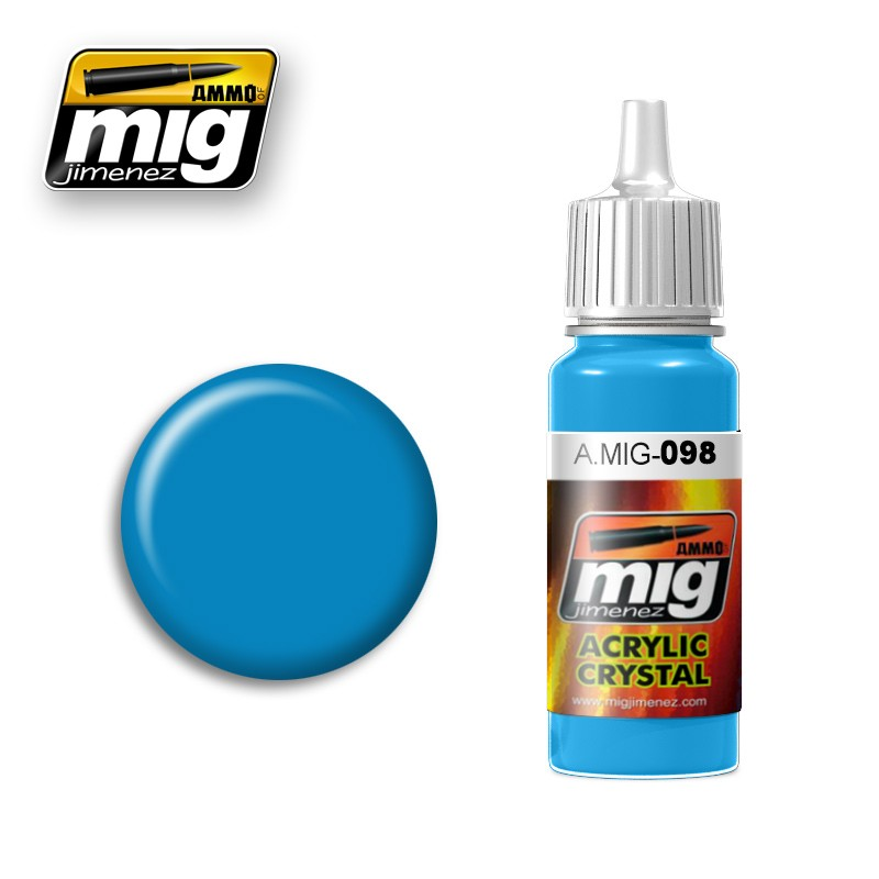 Crystal Light Blue Acrylic Paint 17ml. Bottle