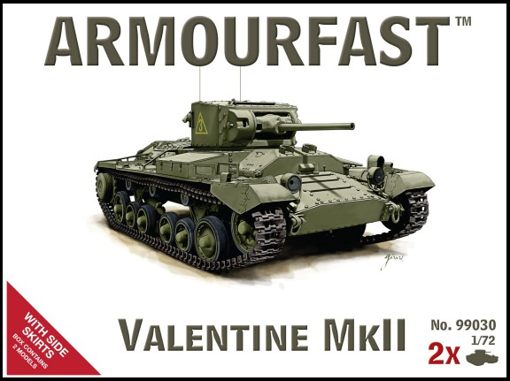 WWII British Valentine Mk II Tank w/Side Skirts