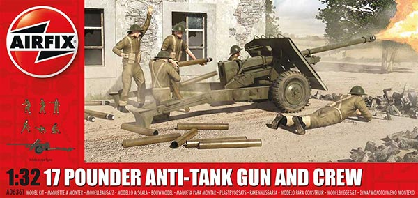 WWII British 17-Pdr Anti-Tank Gun