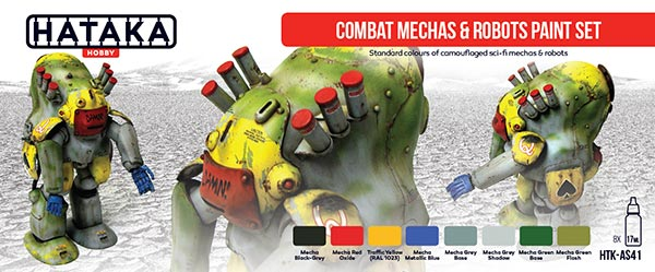 Red Line: Combat Mechas & Robots Sci-Fi Camouflage Paint Set (8 Colors) - Optimized For Airbrush - 17ml Bottles ONLY 1 AVAILABLE
