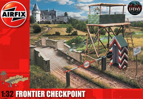 WWII Frontier Checkpoint: High Tower, Bridge w/Brick Walls, Gate, Guard Shed