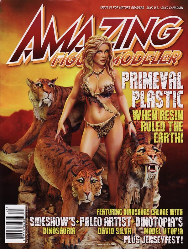 Amazing Figure Modeler Issue 55 Primal Plastic, When Resin Ruled the Earth