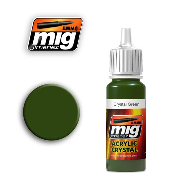 Crystal Green Acrylic Paint 17ml. Bottle