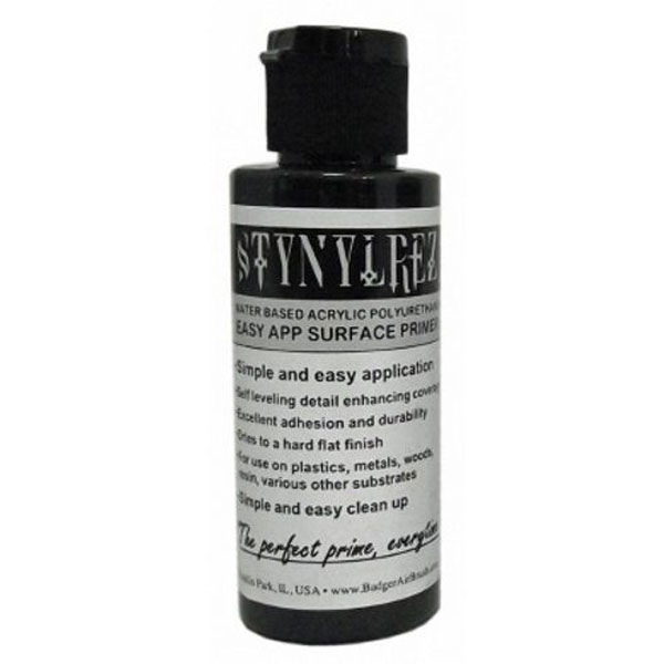 Stynylrez Water-Based Acrylic Primer Black 2oz. Bottle