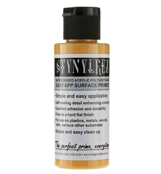Stynylrez Water-Based Acrylic Primer Neutral Yellow 2oz. Bottle