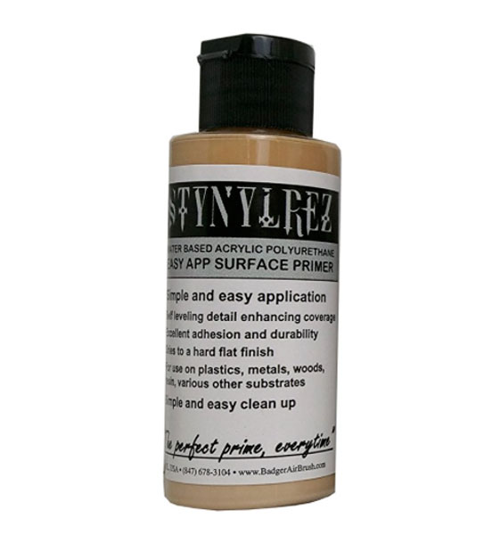 Stynylrez Water-Based Acrylic Primer Light Flesh 2oz. Bottle