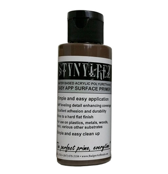 Stynylrez Water-Based Acrylic Primer Ebony Flesh 2oz. Bottle