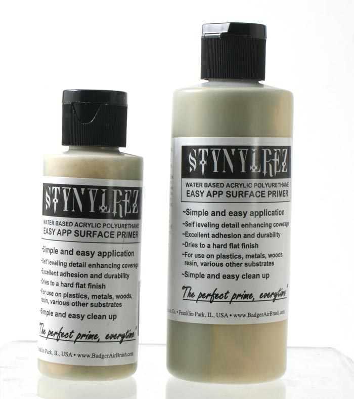 Stynylrez Water-Based Acrylic Primer Pale Sage 2oz. Bottle