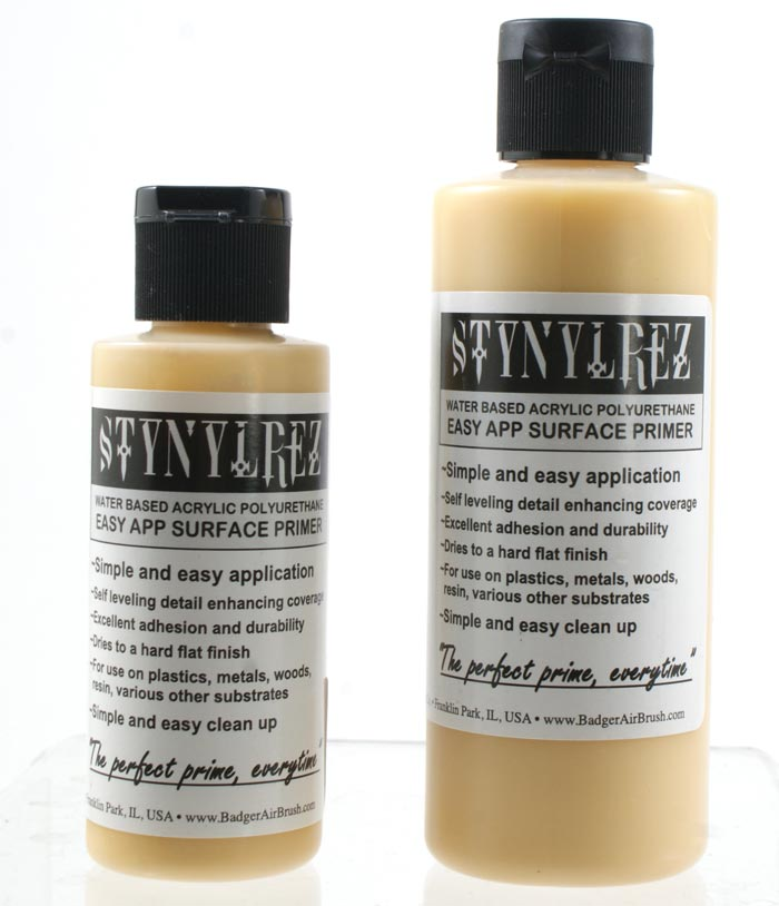Stynylrez Water-Based Acrylic Primer Pale Mustard 2oz. Bottle
