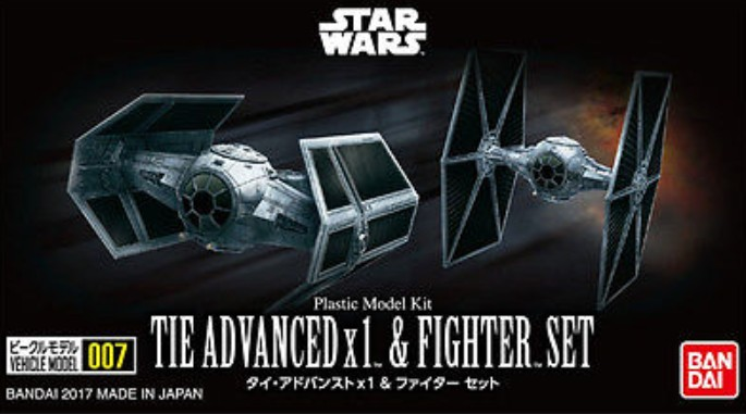 Star Wars: Tie Advanced x1 & Tie Fighter Set (Snap)