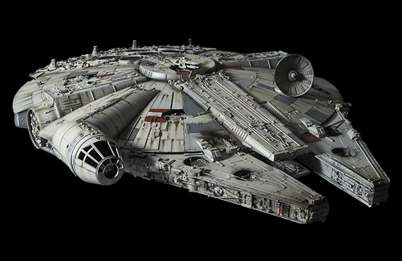Star Wars A New Hope (Perfect Grade Series): Millennium Falcon Studio Model Version