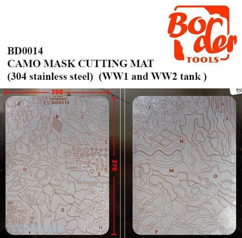 Camo Mask Cutting Mat WW1 and WW2