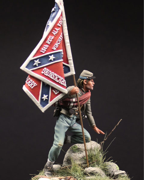 Confederate Stardard Bearer, 15th Alabama Volunteers