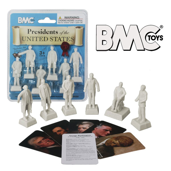 Presidents of The United States Series 1: Plastic Figure 6pc Set